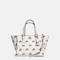 CROSBY MINI CARRYALL IN PRINTED CROSSGRAIN LEATHER - f34774 - BRAMBLE ROSE