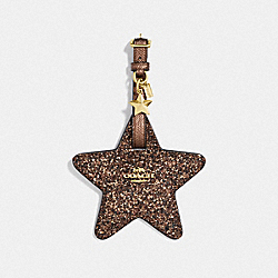 COACH F34777 Star Luggage Tag BRONZE/LIGHT GOLD