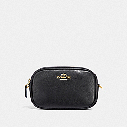 CONVERTIBLE BELT BAG - F34805 - BLACK/LIGHT GOLD