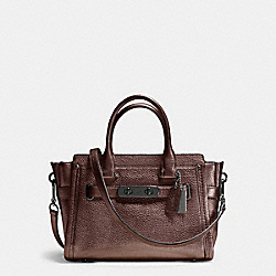 COACH SWAGGER  27 IN PEBBLE LEATHER - f34816 - DARK GUNMETAL/BRONZE