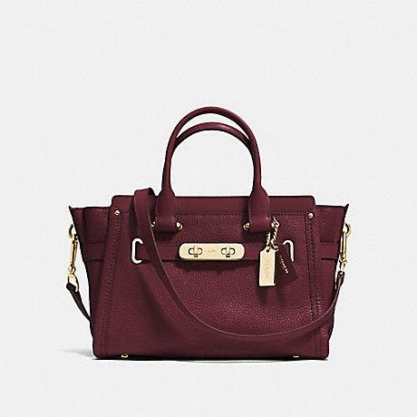 COACH f34816 COACH SWAGGER 27 BURGUNDY/LIGHT GOLD