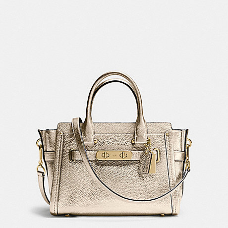 COACH F34816 COACH SWAGGER  27 IN PEBBLE LEATHER LIGHT-GOLD/PLATINUM