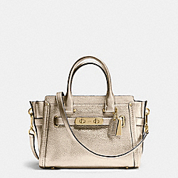 COACH F34816 Coach Swagger  27 In Pebble Leather LIGHT GOLD/PLATINUM