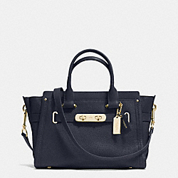 COACH F34816 - COACH SWAGGER  27 IN PEBBLE LEATHER LIGHT GOLD/NAVY