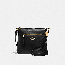 MAE CROSSBODY - F34823 - BLACK/LIGHT GOLD