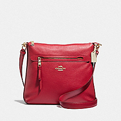 MAE CROSSBODY - F34823 - TRUE RED/LIGHT GOLD