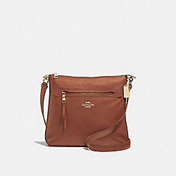 MAE CROSSBODY - F34823 - SADDLE 2/LIGHT GOLD