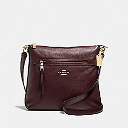 MAE CROSSBODY - F34823 - OXBLOOD 1/LIGHT GOLD