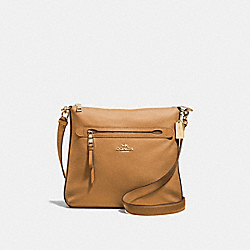 MAE CROSSBODY - F34823 - LIGHT SADDLE/IMITATION GOLD