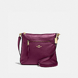 COACH F34823 - MAE FILE CROSSBODY IM/DARK BERRY