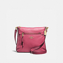 COACH F34823 Mae File Crossbody ROUGE/GOLD