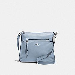 MAE CROSSBODY - F34823 - CORNFLOWER/SILVER