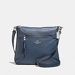 COACH F34823 Mae File Crossbody DENIM/SILVER