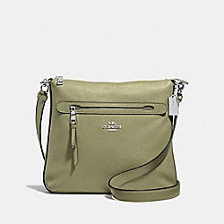 COACH F34823 Mae Crossbody LIGHT CLOVER/SILVER