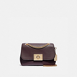 CASSIDY CROSSBODY - F34828 - OXBLOOD 1/LIGHT GOLD