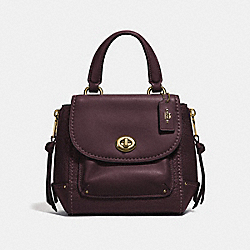 MINI FAYE BACKPACK - F34830 - OXBLOOD 1/LIGHT GOLD