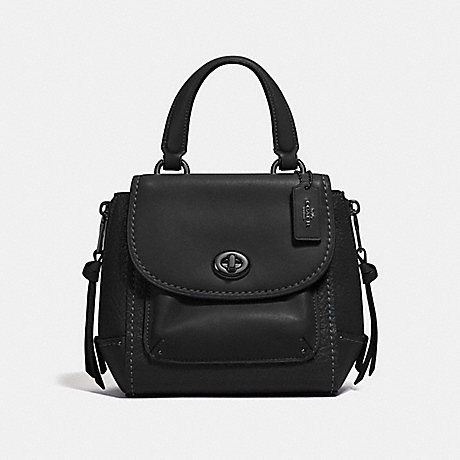 COACH F34830 MINI FAYE BACKPACK BLACK/BLACK ANTIQUE NICKEL