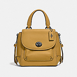COACH F34830 Mini Faye Backpack FLAX/BLACK ANTIQUE NICKEL