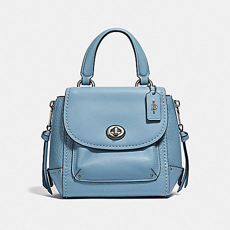 COACH F34830 MINI FAYE BACKPACK CORNFLOWER/SILVER