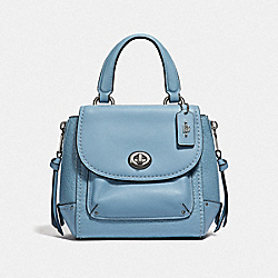 MINI FAYE BACKPACK - F34830 - CORNFLOWER/SILVER