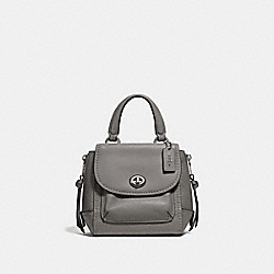 MINI FAYE BACKPACK - F34830 - HEATHER GREY/SILVER