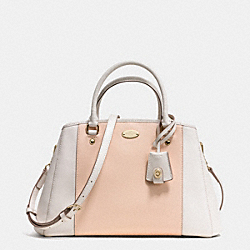 COACH F34853 - SMALL MARGOT CARRYALL IN BICOLOR CROSSGRAIN  LIGHT GOLD/APRICOT/CHALK