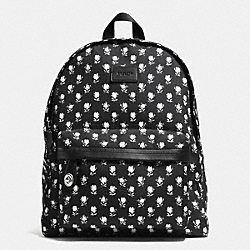 COACH F34855 Small Campus Backpack In Printed Canvas  SILVER/BK PCHMNT BDLND FLR