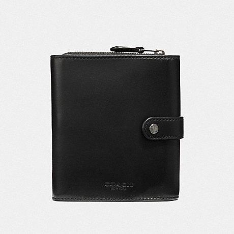 COACH F34868 CORD ORGANIZER BLACK/BLACK ANTIQUE NICKEL