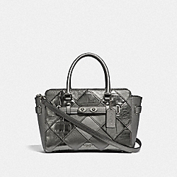 COACH F34889 - BLAKE CARRYALL 25 WITH PATCHWORK GUNMETAL MULTI/SILVER