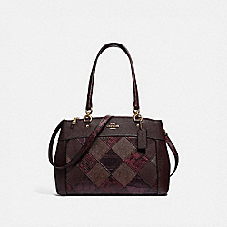BROOKE CARRYALL WITH PATCHWORK - F34890 - OXBLOOD MULTI/LIGHT GOLD