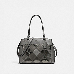 BROOKE CARRYALL WITH PATCHWORK - F34890 - GUNMETAL MULTI/SILVER
