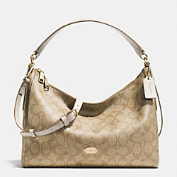 EAST/WEST CELESTE CONVERTIBLE HOBO IN SIGNATURE - f34899 -  LIGHT GOLD/LIGHT KHAKI/CHALK