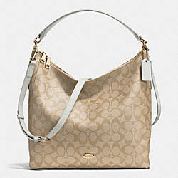 CELESTE CONVERTIBLE HOBO IN SIGNATURE CANVAS - f34910 -  LIGHT GOLD/LIGHT KHAKI/CHALK