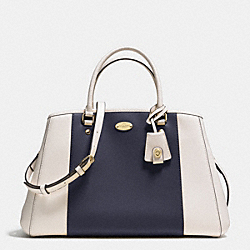 COACH F34913 - MARGOT CARRYALL IN BICOLOR CROSSGRAIN LEATHER  LIGHT GOLD/MIDNIGHT/CHALK