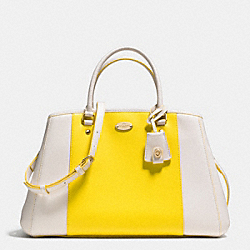 COACH F34913 - MARGOT CARRYALL IN BICOLOR CROSSGRAIN LEATHER  LIGHT GOLD/YELLOW/CHALK