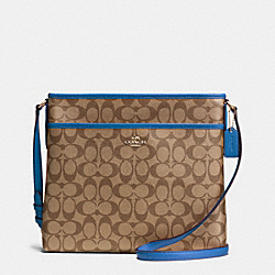 COACH F34938 - FILE BAG IN SIGNATURE  IMITATION GOLD/KHAKI/BRIGHT MINERAL