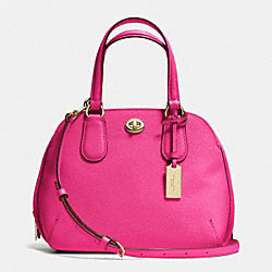COACH F34940 - PRINCE STREET MINI SATCHEL IN CROSSGRAIN LEATHER LIGHT GOLD/PINK RUBY