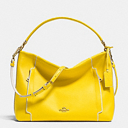 SCOUT HOBO IN COLORBLOCK LEATHER - f34994 - LIGHT GOLD/YELLOW/CHALK