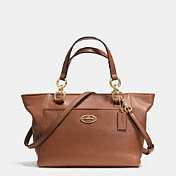 COACH F35030 Mini Ellis Tote In Pebble Leather LIGHT GOLD/SADDLE