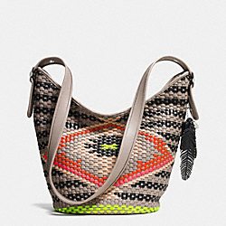 COACH F35053 Duffle In Woven Leather SVE2M