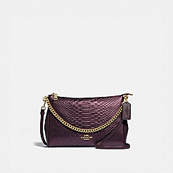 CARRIE CROSSBODY - F35059 - OXBLOOD 1/LIGHT GOLD