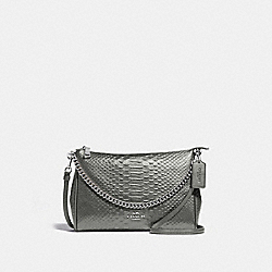 CARRIE CROSSBODY - F35059 - GUNMETAL/SILVER
