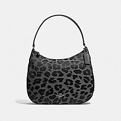 COACH F35085 - ZIP SHOULDER BACK WITH LEOPARD PRINT GREY/SILVER
