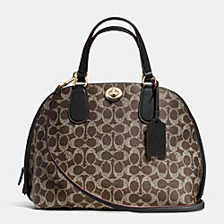 COACH F35091 - PRINCE STREET SATCHEL IN SIGNATURE LIGHT GOLD/SADDLE/BLACK