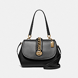 COACH F35113 - FAYE CARRYALL BLACK/LIGHT GOLD