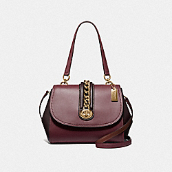 FAYE CARRYALL - F35113 - OXBLOOD 1/LIGHT GOLD