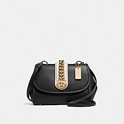 FAYE CROSSBODY - F35114 - BLACK/LIGHT GOLD