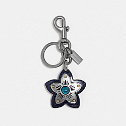 COACH F35132 - WILDFLOWER BAG CHARM DENIM/BLACK