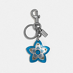 COACH F35132 Wildflower Bag Charm SV/CERULEAN