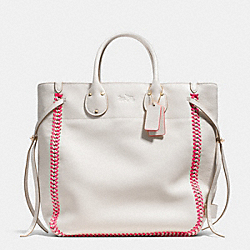 COACH F35156 - TATUM TALL TOTE IN POP LACING WHIPLASH LEATHER LIE1K